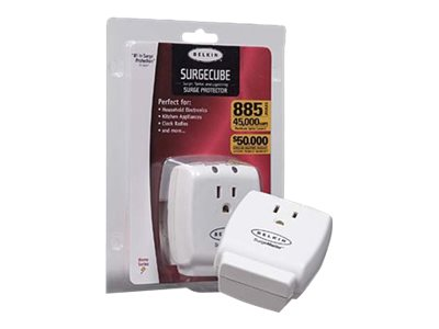 Belkin SurgeMaster Home Series Surge Protector, 1-outlet Wallmount (F9H100-CW)
