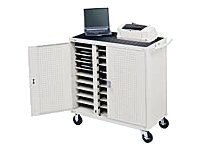 Bretford Manufacturing Welded Notebook Cart with 5 Casters and Electrical Units, LAP18EFR-GM, 469295, Computer Carts