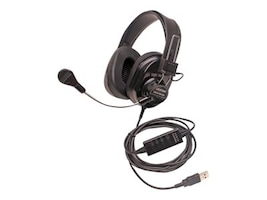 Califone 3066AVT Deluxe Stereo Headset w  Mic, 3066-BKT, 18587014, Headsets (w/ microphone)