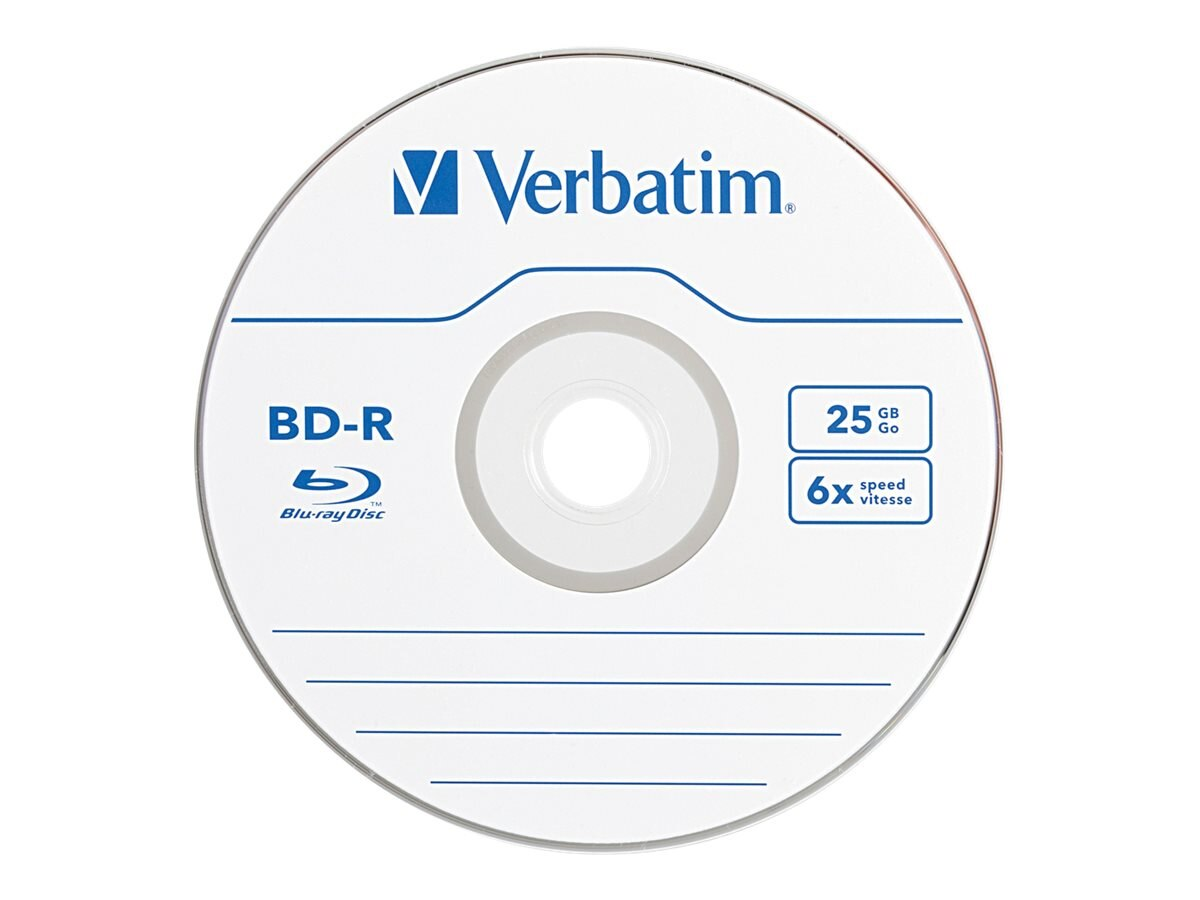 Verbatim 6x 25GB Branded BD-R Media (3-pack Jewel Cases), 97341