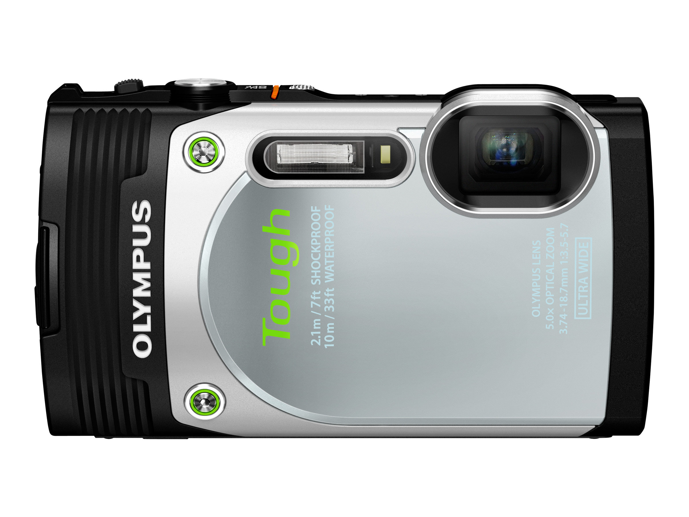 Olympus Stylus Tough TG-850 Digital Camera, Silver, V104150SU000, 16793130, Cameras - Digital - Point & Shoot