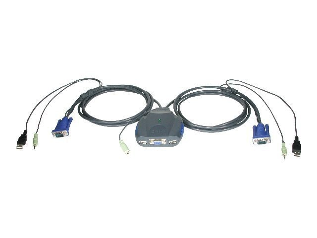 C2G TRULINK 2-Port VGA and USB Micro KVM Switch with Audio, 52043, 6925231, KVM Switches
