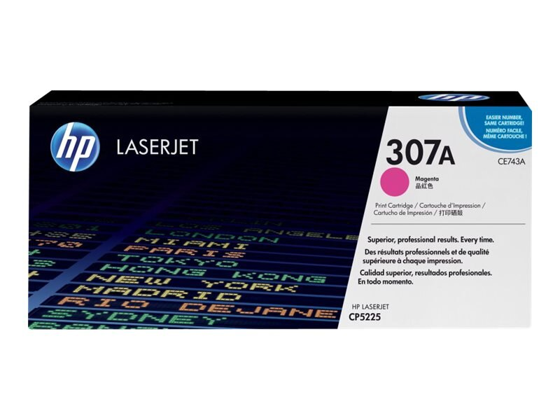 HP 307A (CE743A) Magenta Original LaserJet Toner Cartridge