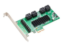 Global Marketing Partners 8-port SATA III PCIe 2.0 x2 Controller Card, SI-PEX40071, 17541330, Controller Cards & I/O Boards