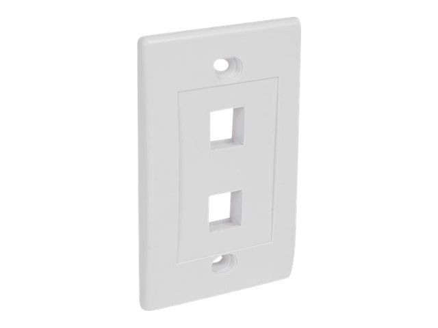 StarTech.com Dual Outlet RJ-45 Universal Wall Plate, White