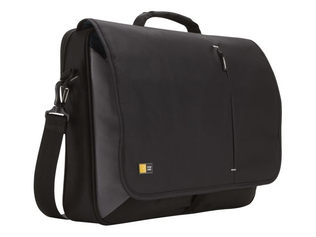 Case Logic 17 Laptop Messenger Bag, Black