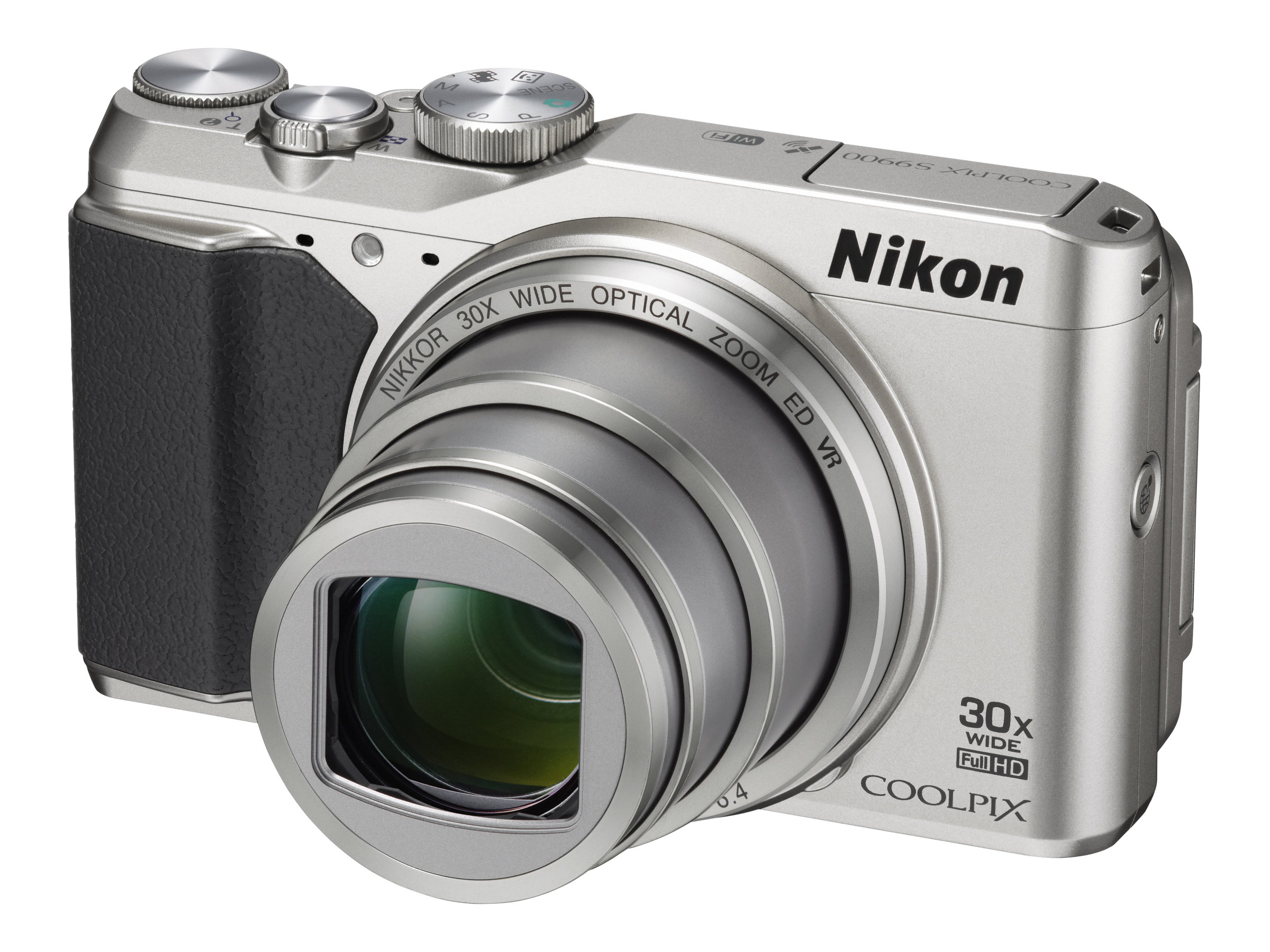 Nikon COOLPIX S9900 Digital Camera, Silver