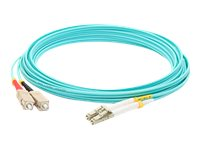 ACP-EP LC-ST 50 125 OM3 Multimode LOMM Fiber Patch Cable, Aqua, 5m