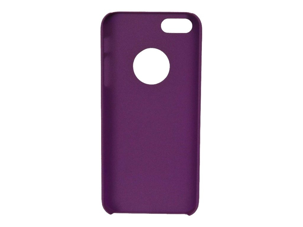 V7 Sand Finish Semi-Flexible PC Cover Case for iPhone 5, Metro Purple, PA19MPUR-2N, 15289185, Carrying Cases - Other