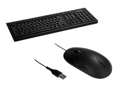 Targus Corporate Keyboard plus 3-button USB Full Size Optical Mmouse, BUS0067B, 14294898, Keyboard/Mouse Combinations