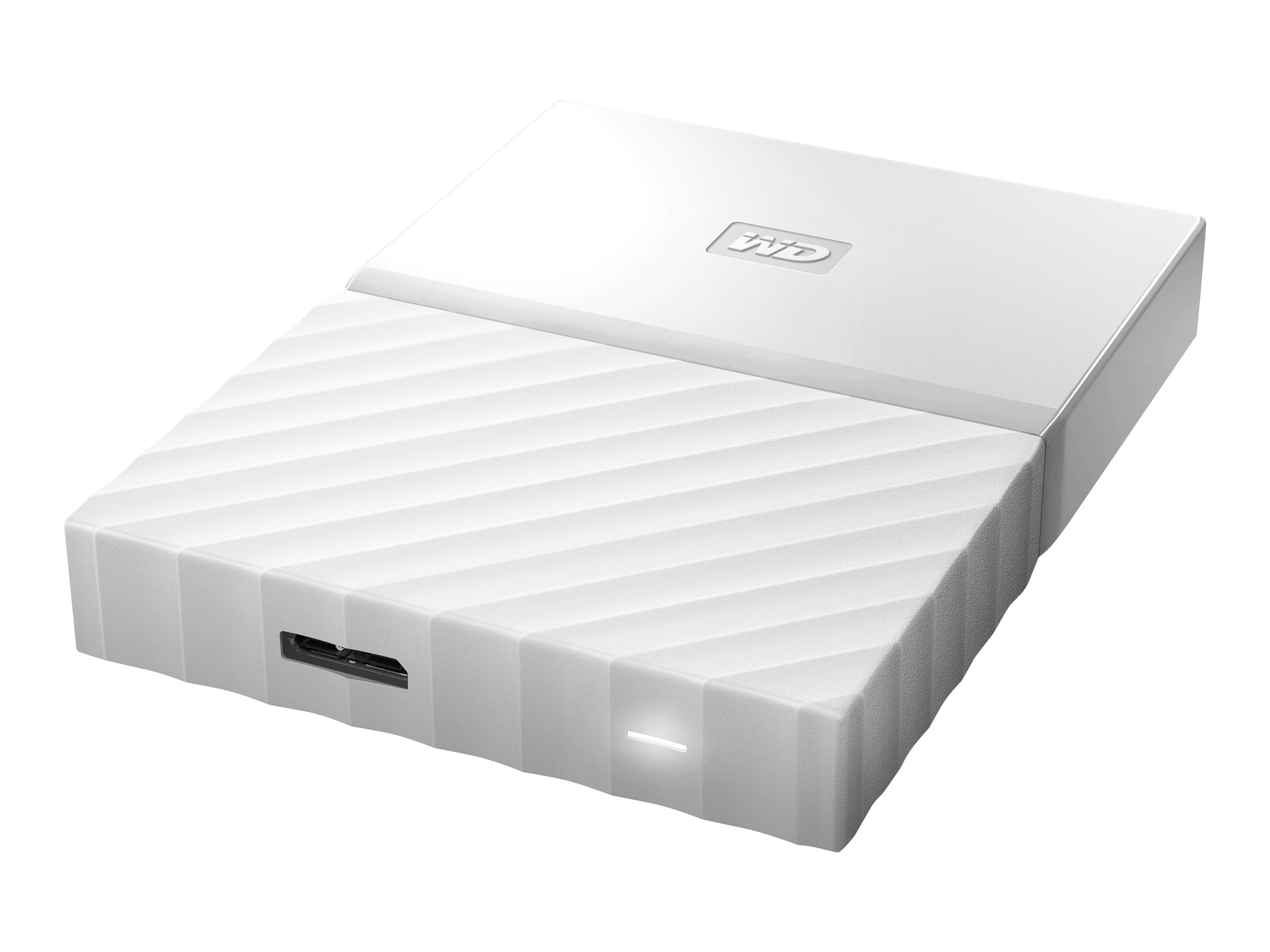 WD 4TB My Passport USB 3.0 Portable Hard Drive - White, WDBYFT0040BWT-WESN
