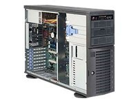 Supermicro 4U Tower, 665W PSU, Black, CSE-743I-665B, 11126194, Cases - Systems/Servers