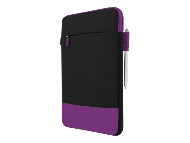Incipio Asher Sleeve Premium Nylon Sleeve for 10 11 Devices, Black Purple