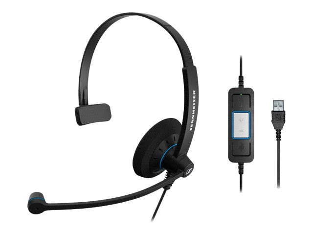 Sennheiser SC 30 UC USB Single-Sided Headset, 504548, 16161301, Headsets (w/ microphone)