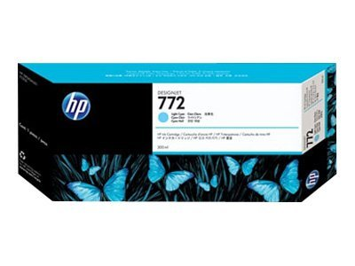 HP 772 300-ml Light Cyan Designjet Ink Cartridge, CN632A, 11444221, Ink Cartridges & Ink Refill Kits