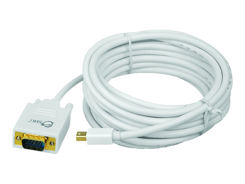 Siig Mini DisplayPort to VGA Converter Cable, 15ft