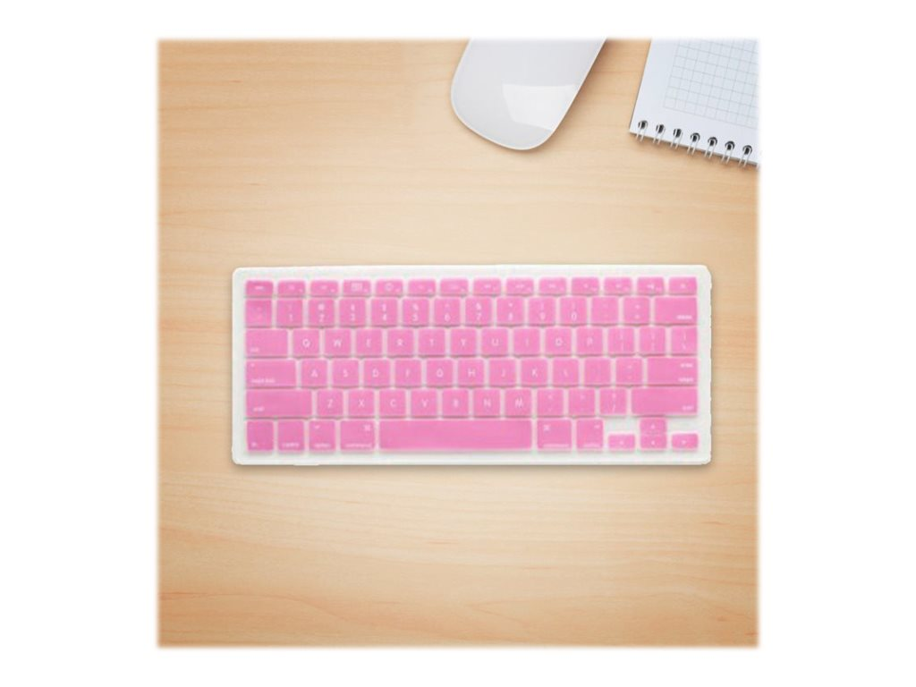 V7 Silicone Keyboard Cover, Pink, MB1357PIK, 12756235, Protective & Dust Covers