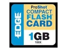 Edge 1GB ProShot 100X CompactFlash Card, PE204372, 6326247, Memory - Flash