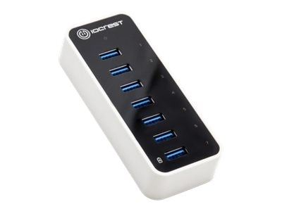 Syba 7PORT USB 3.0 5GBPS SUPER SPEEDCTLRIO CREST HUB WITH AC POWER ADAPTER