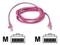 Belkin CAT5E UTP Patch Cable, Pink, 9ft