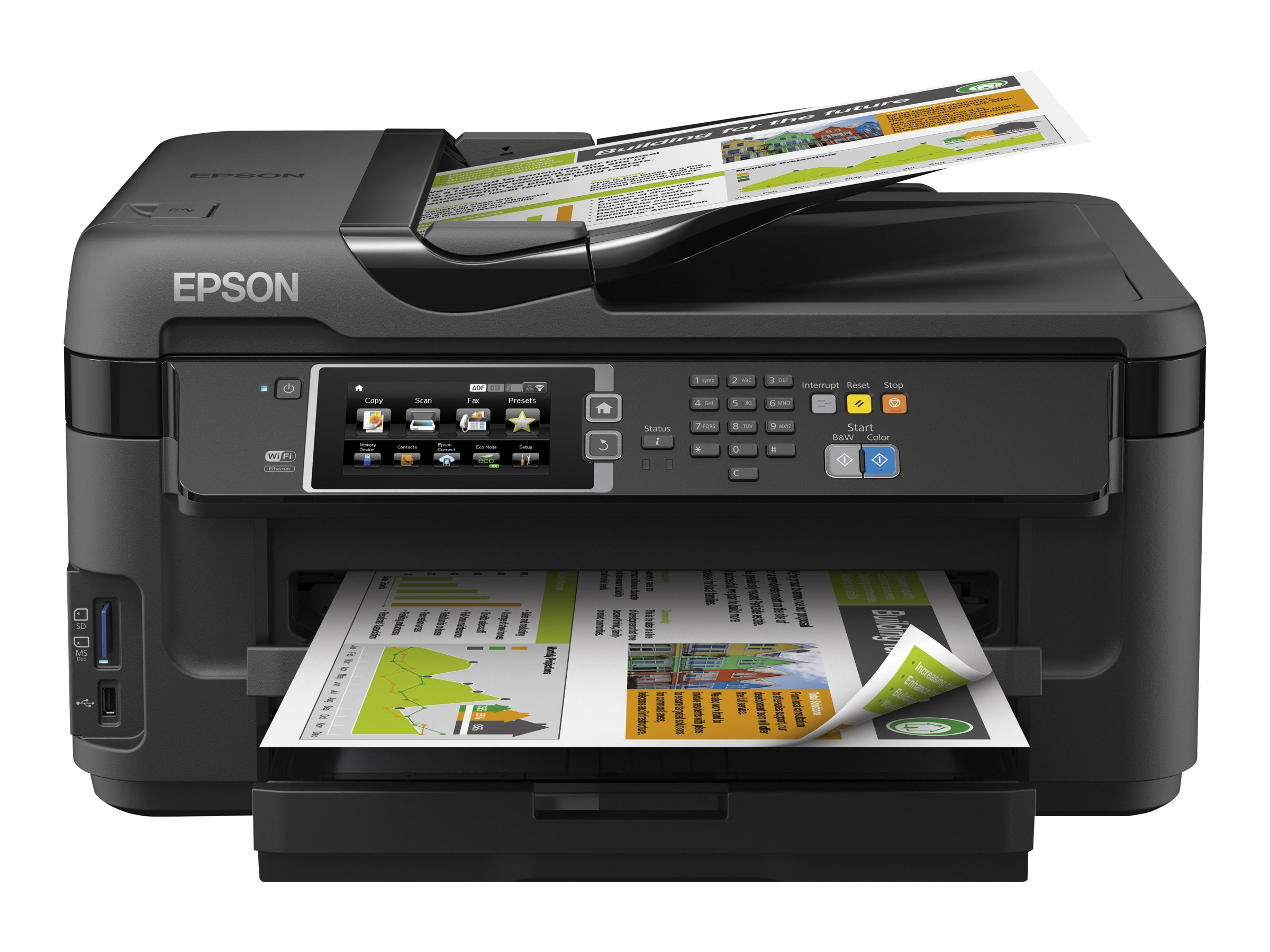 Epson WorkForce WF-7610 All-In-One Printer - $249.99 less instant rebate of $48.00, C11CC98201, 17456709, MultiFunction - Ink-Jet