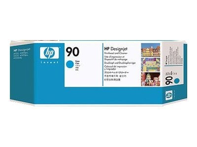 HP 90 Cyan Printhead & Cleaner for HP Designjet 4000 4500 Printer Series, C5055A, 5673888, Ink Cartridges & Ink Refill Kits