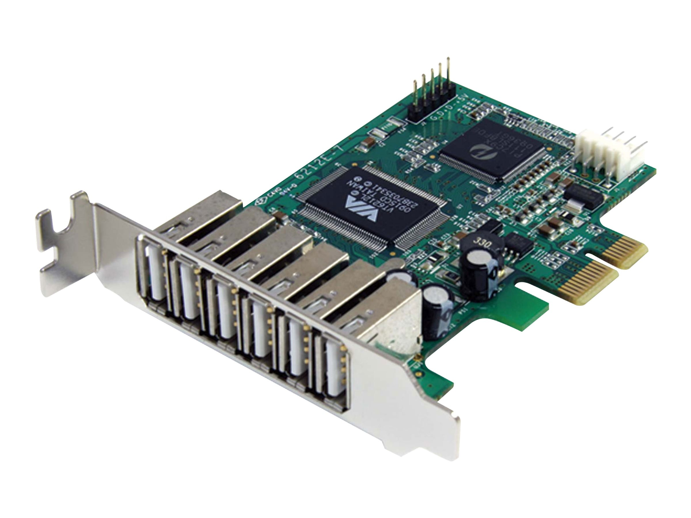 StarTech.com 7-port PCI Express Low Profile High Speed USB 2.0 Adapter Card, PEXUSB7LP, 11399731, Controller Cards & I/O Boards