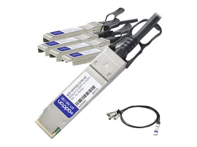 ACP-EP 40GBASE-CU QSFP+ to 4x SFP+ Passive Twinax Direct Attach Cable, 7m, QSFP-4SFP10G-CU7M-AO