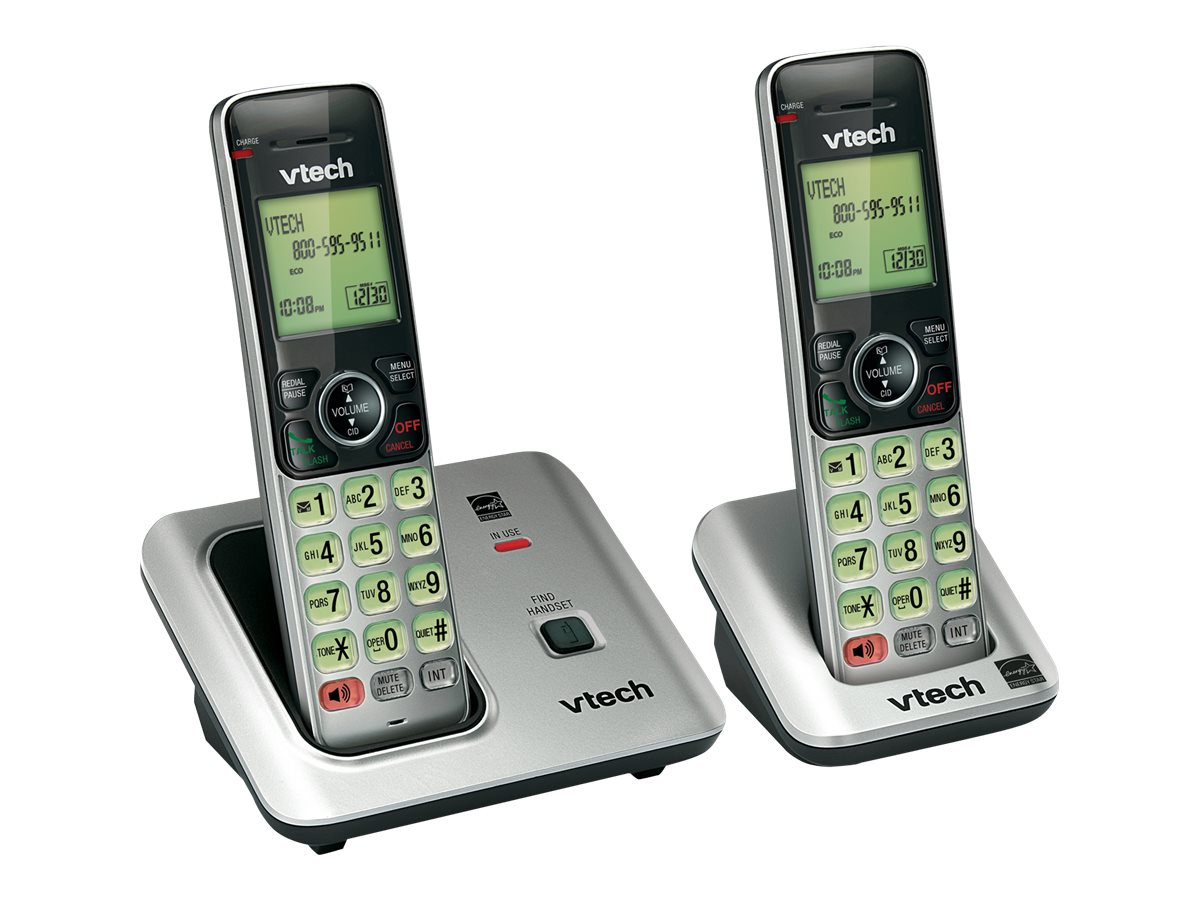 Vtech CS6619-2 DECT6.0 2 Cordless Handset Wireless Phone w  Caller ID Call Waiting
