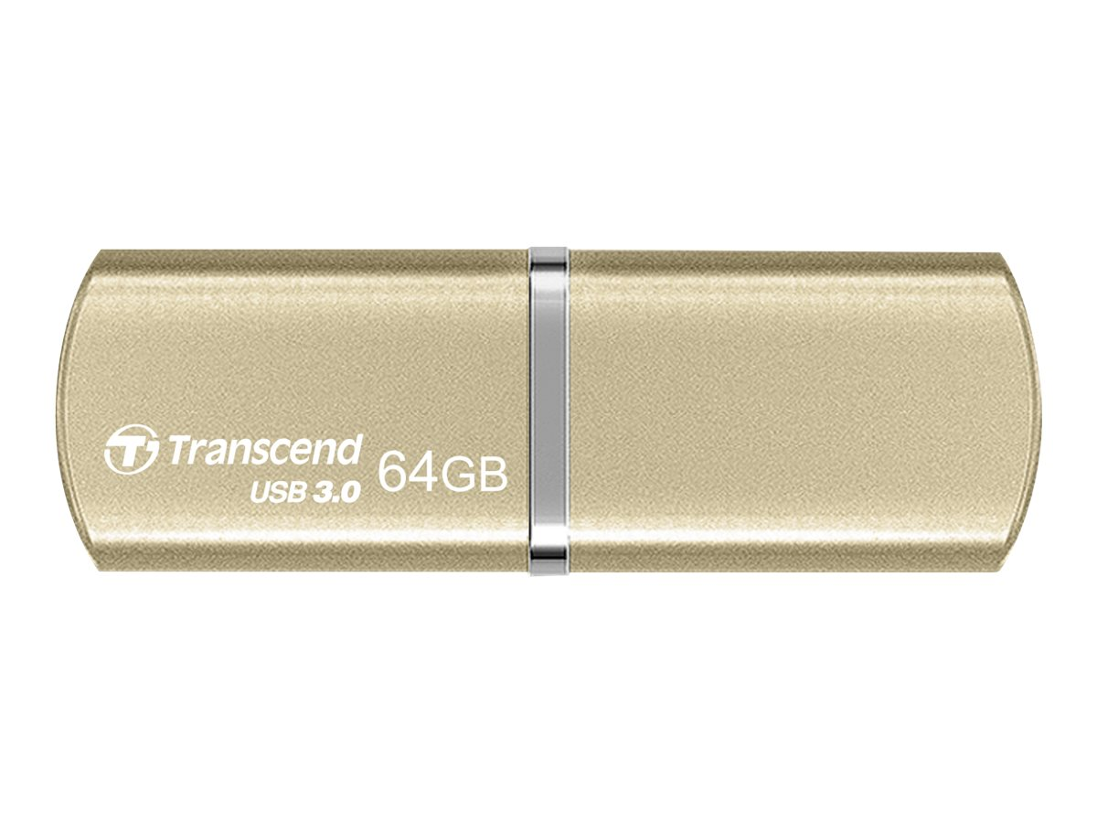 Transcend 64GB JetFlash 820G USB 3.0 Flash Drive, Gold