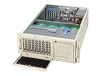 Supermicro Chassis, 4U, Tower, 2Pentium 4, EATX, 6 PCI, SCSI-1Ch 8HD, 3x5.25 Bays, No CD FDD, 645 W PS, Beige, CSE-743S1-645, 5411706, Cases - Systems/Servers
