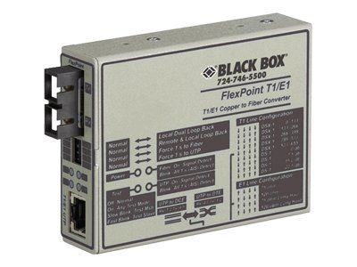 Black Box FLEXPOINT T1 E1 TO FIBER LINE DRIVER, MU