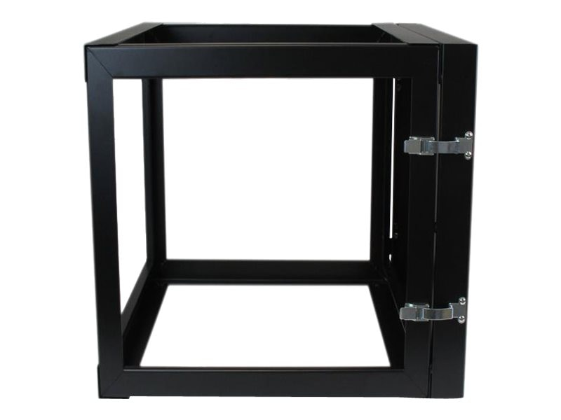 StarTech.com 12U x 22d Hinged Open Frame Wall Mount Server Rack, RK1219WALLOH