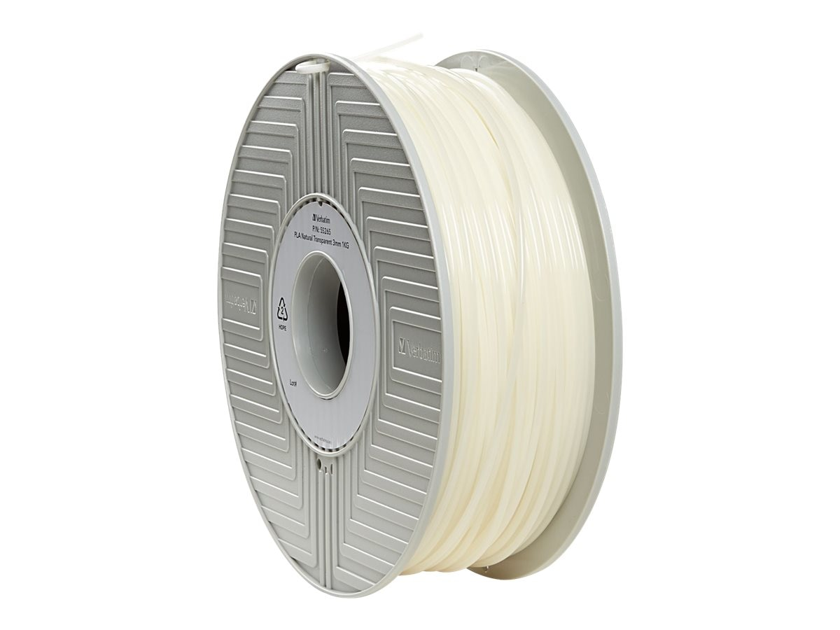 Verbatim Natural 3mm 1kg PLA 3D Filamennt Reel, 55265