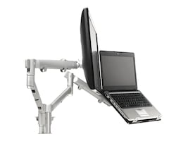Atdec Dual Spring-Assisted Monitor Notebook Combination Desk Mount, SNCS10S, 18031243, Computer Carts
