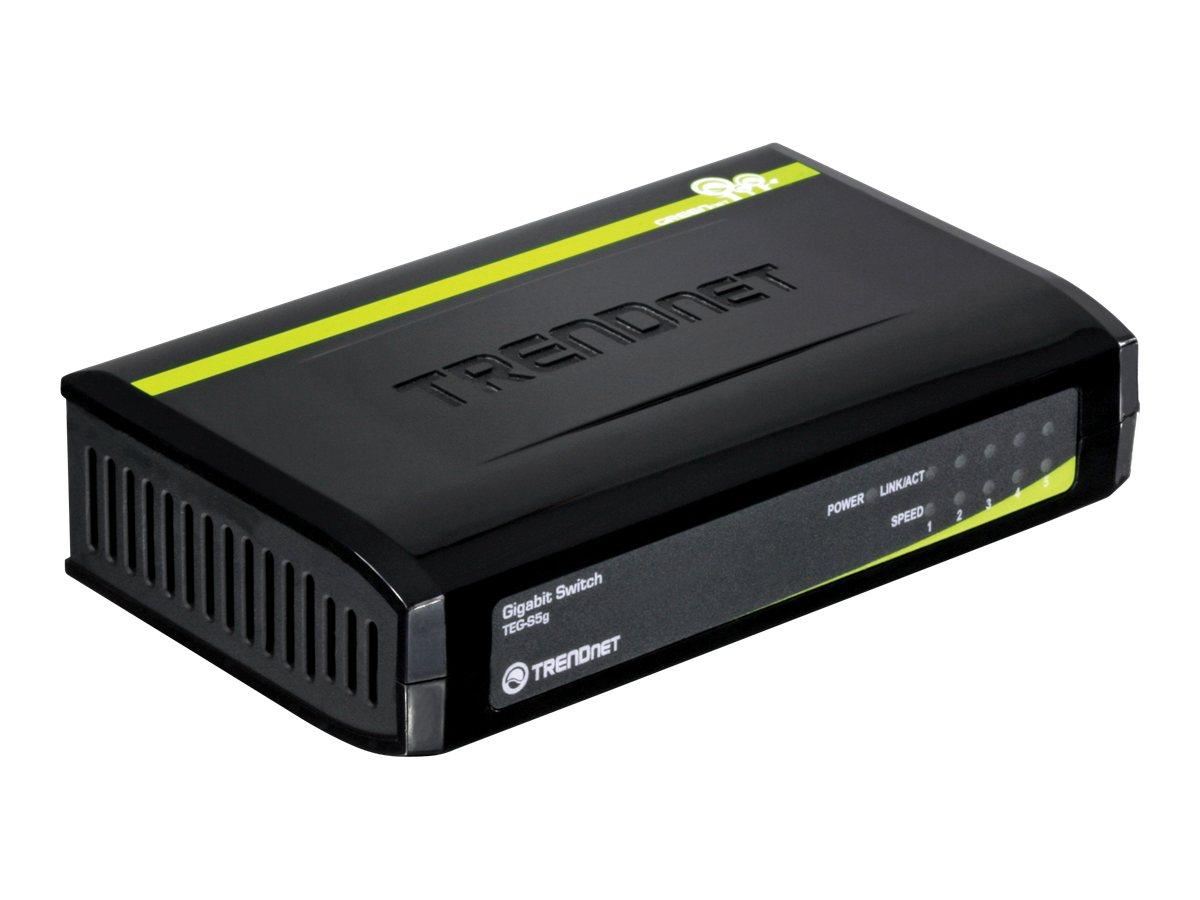 TRENDnet 5-port Gigabit GreenNet Switch, TEG-S5G
