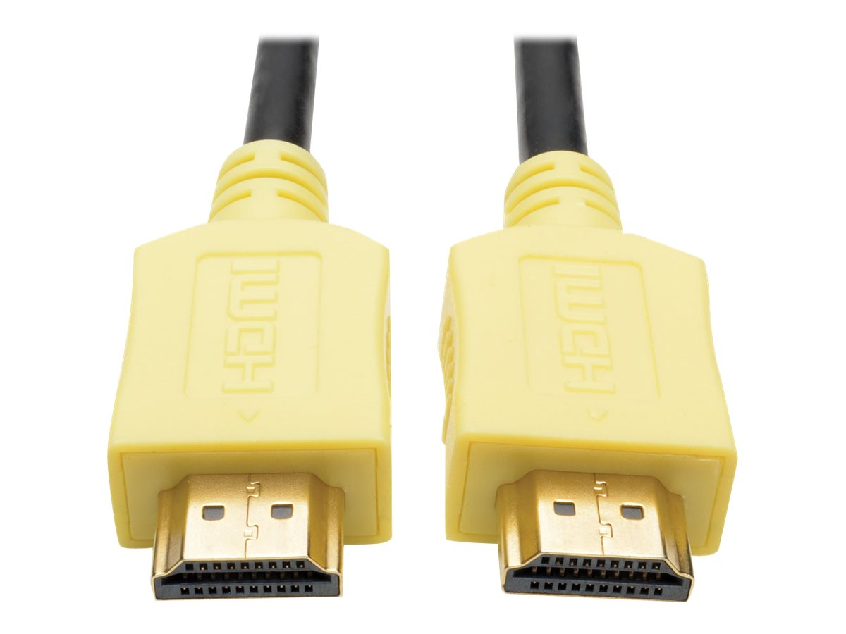 Tripp Lite High-Speed HDMI M M 4K x 2K Cable with Digital Video and Audio, Yellow, 6ft