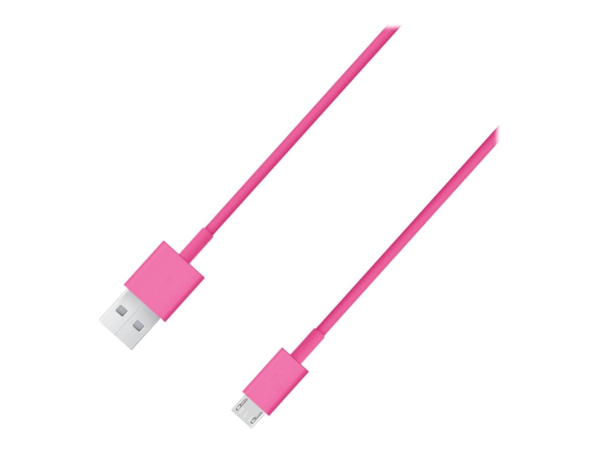4Xem Micro USB to USB Type A M M Cable, Pink, 6ft, 4XMUSBCBLPK