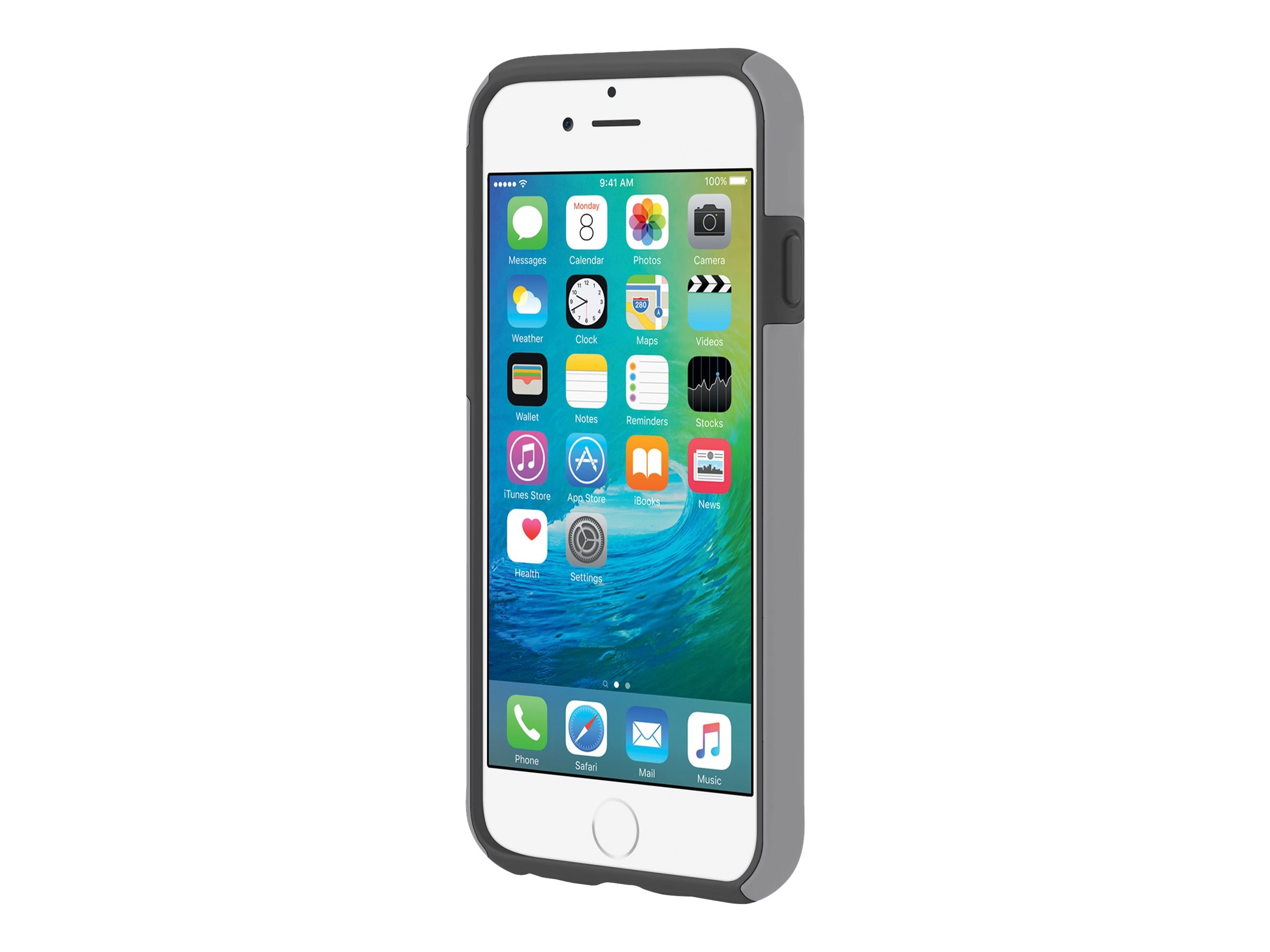 Incipio DualPro Hard Shell Case w  Impact-Absorbing Core for iPhone 6 6s, Gray Dark Gray