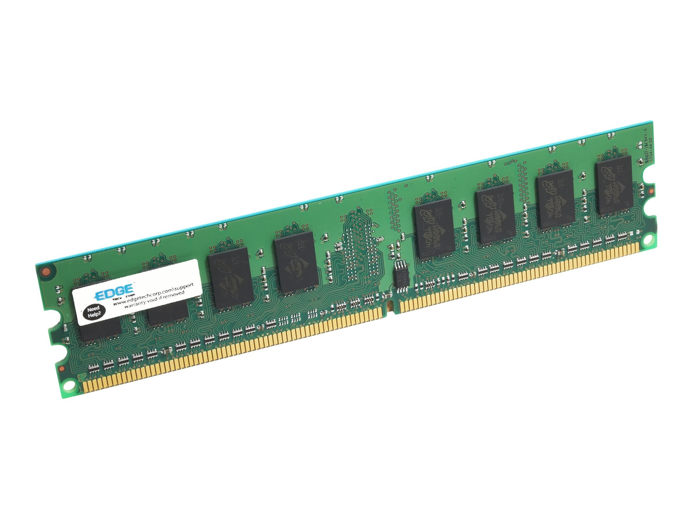 Edge 1GB PC2-5300 240-pin DDR2 SDRAM UDIMM for Select Lenovo Systems, PE228514, 12149099, Memory