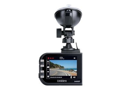 Uniden HD Dash Cam with GPS, 8GB SD card, Lane Departure and Red Light Camera Warning, DC4GT