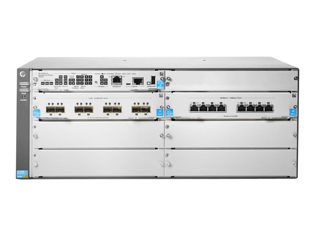HPE 5406R-8XGT 8SFP+ V2 ZL2 Switch, J9868A, 17439790, Network Switches