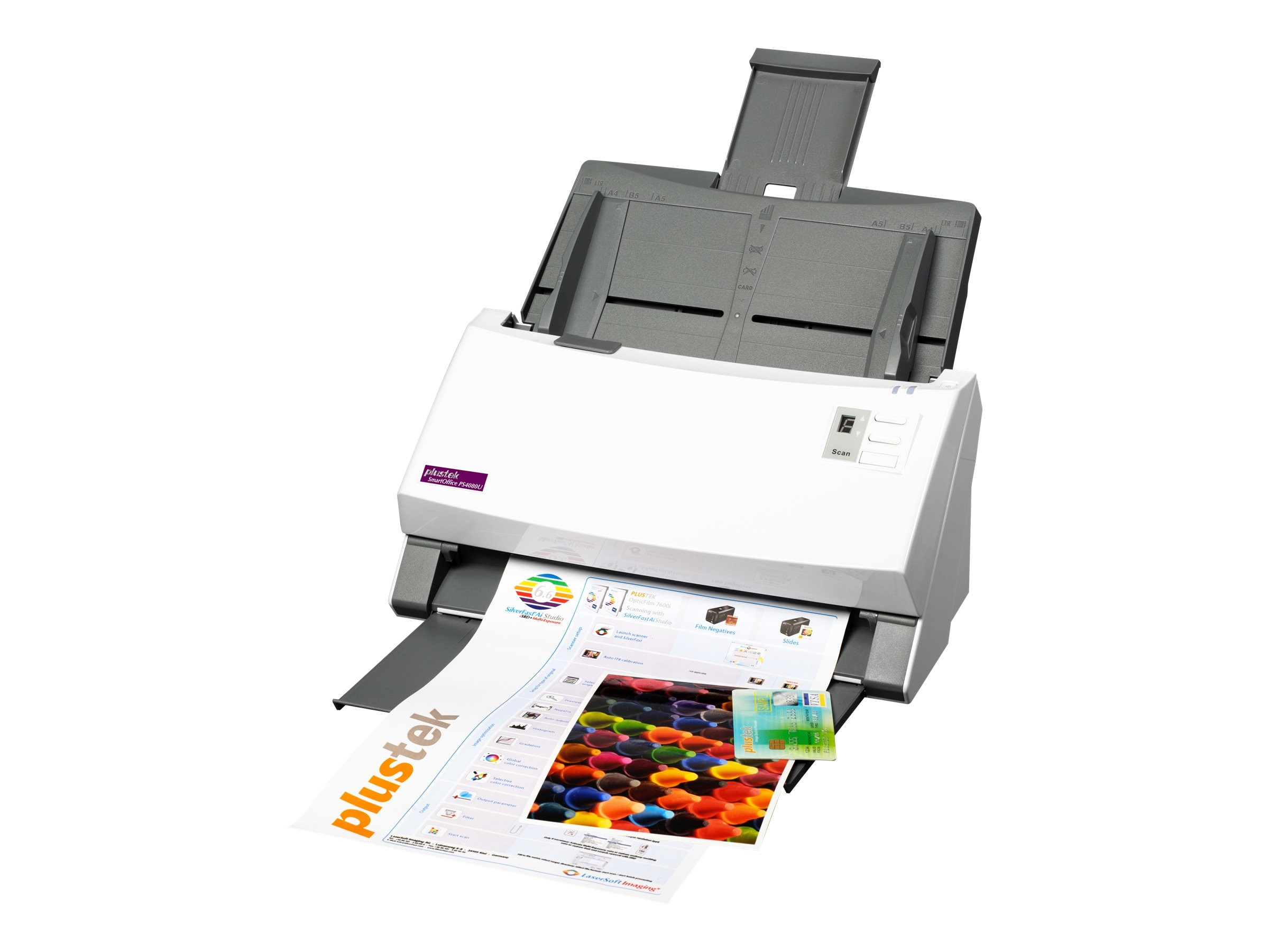 Plustek Smartoffice PS4080U Color Simplex Duplex 40ppm Departmental Scanner
