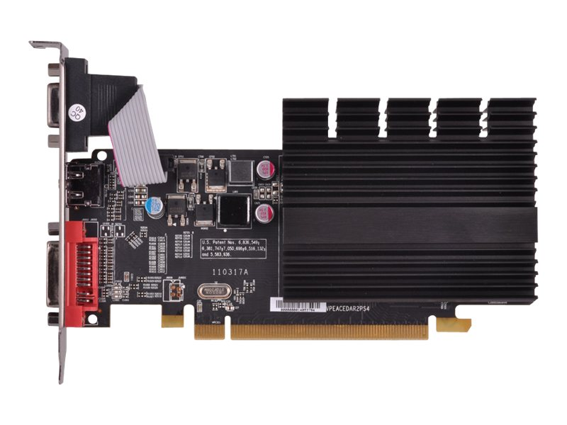 Pine Radeon HD 5450 PCIe 2.1 x16 Low-Profile Ready Graphics Card, 1GB DDR3