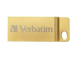 Verbatim 32GB Metal Executive USB 3.0 Flash Drive, Gold, 99105, 30925792, Memory - Flash