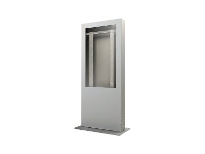 Peerless Portrait Kiosk Enclosure, Silver, for 55 Displays