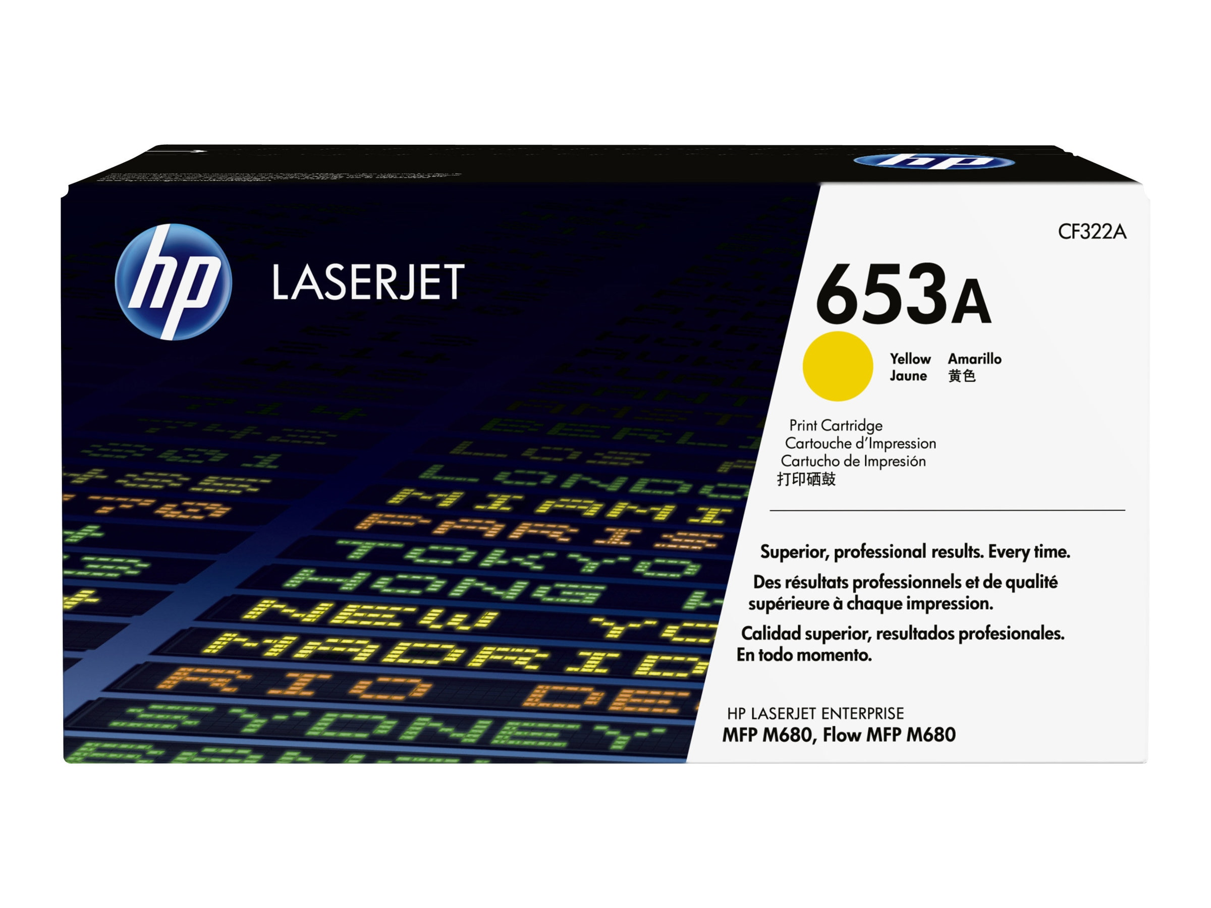 HP 653A (CF322A) Yellow Original LaserJet Toner Cartridge for HP LaserJet Enterprise MFP M680 Series