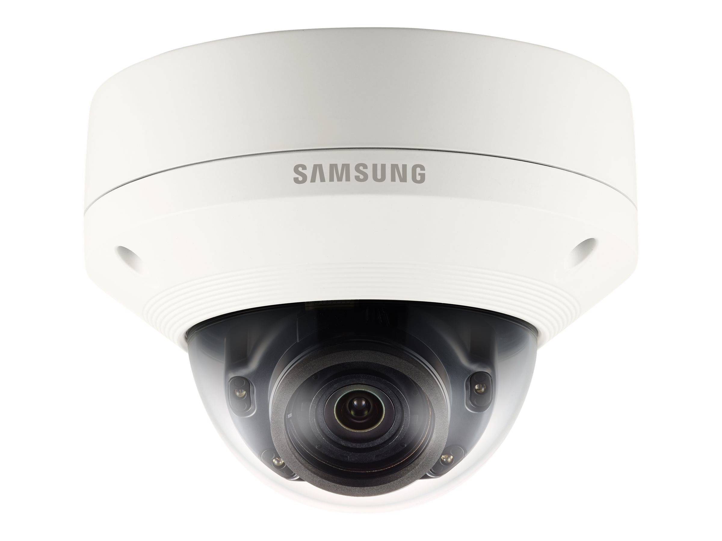Samsung 5MP Vandal-Resistant Network IR Dome Camera, White, SNV-8081R