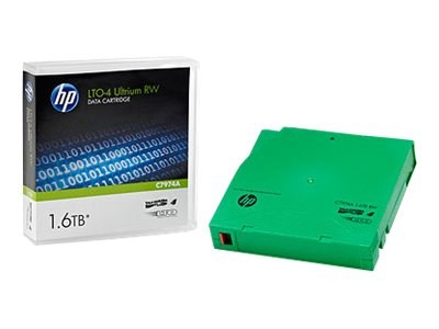 HPE 800GB 1.6TB LTO-4 Ultrium Tape Cartridges without Case (Pallet of 960), C7974AB