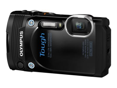 Olympus Stylus Tough TG-860 Digital Camera, 16 MP, Black, V104170BU000, 18478230, Cameras - Digital - Point & Shoot